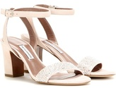 Tabitha Simmons Leticia Embellished Suede Sandals