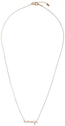PERSÉE Rose Gold and Diamond Around the Words Necklace
