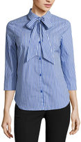 WORTHINGTON Worthington 3/4 Sleeve Button-Front Shirt