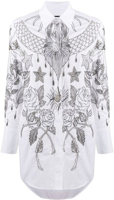 John Richmond Printed Button-Up Shirt