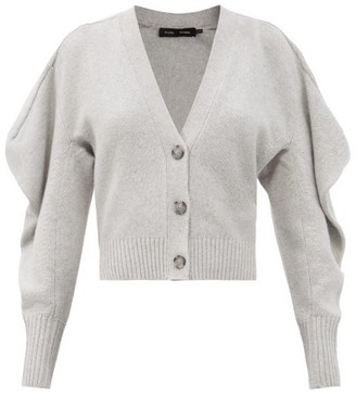 Proenza Schouler Draped-sleeve V-neck Cashmere Cardigan - Grey