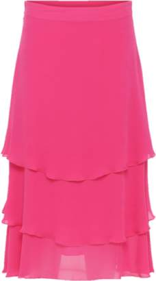 Glo Custommade - Philipa Pink Silk Skirt - L / Pink