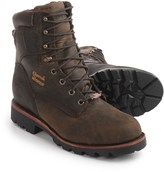 """Chippewa Crazy Horse Leather Work Boots - Waterproof, Insulated, 8"""" (For Men)"""