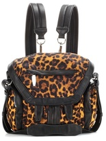 Alexander Wang Marti Mini Printed Leather-trimmed Backpack