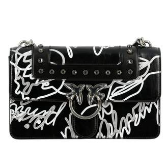 Pinko Crossbody Bags Neon Love Bag In Leather With All Over Prints