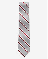 Express tall narrow diagonal stripe silk blend tie