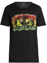 Balmain Wolf-print Crew-neck Cotton T-shirt