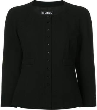 Chanel Pre-Owned three-quarter sleeves collarless jacket