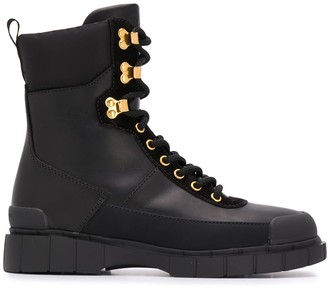 Car Shoe Lace-Up Military Boots