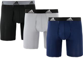 adidas Men's 3-Pack Long Boxer Briefs