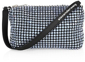 Alexander Wang Medium Heiress Rhinestone Mesh Pouch