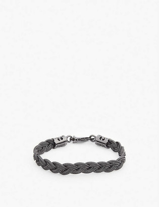 Emanuele Bicocchi Diamond-cut braided silver bracelet