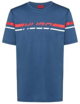 HUGO Regular-fit T-shirt with 80s-inspired logo print
