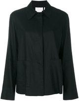 DKNY classic draped fitted jacket - women - Linen/Flax/Spandex/Elastane/Viscose - M