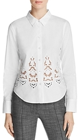 Theory Weylend Embroidered Poplin Shirt