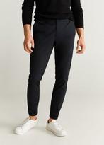 MANGO MAN - Cotton jogger-style trousers beige - 28 - Men