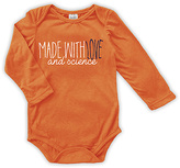 Urban Smalls Orange 'Made with Love & Science' Long-Sleeve Bodysuit - Infant
