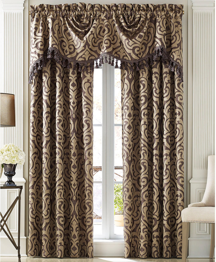 J Queen New York Lucerne Window Panel and Valance Collection