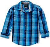 Calvin Klein Big Boys 8-20 Woven Plaid Long-Sleeve Shirt
