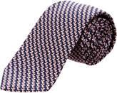 Ermenegildo Zegna Ermengildo Zegna Blue & Pink Geometric Silk Tie