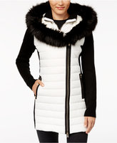 Calvin Klein Faux-Fur Hooded Puffer Jacket