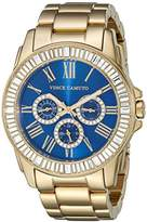 Vince Camuto Women's Quartz Watch with Silver Dial Analogue Display and Gold Stainless Steel Bracelet VC-5158GMGB