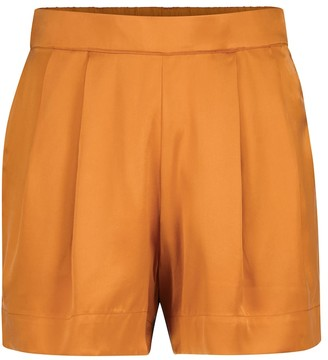 ASCENO Zurich silk satin shorts