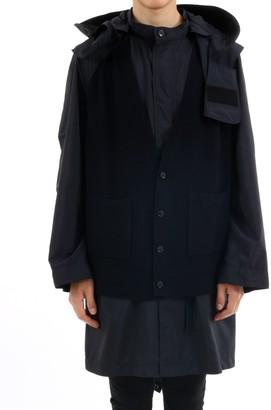 Burberry Panelled Parka Coat
