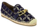 Michael Kors Lennox Metallic Embroidered Espadrille Flats