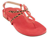 Isaac Mizrahi Live! Leather Thong Sandals