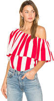 Edit One Shoulder Ruffle Top in Red. - size M (also in S,XS)