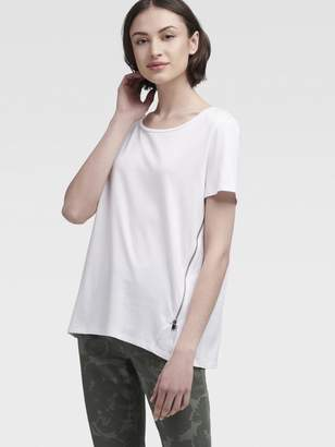 DKNY Tee With Zip Detail