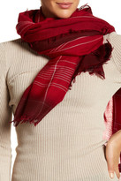 Frye Degrade Stripe Virgin Wool Wrap Scarf