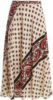 RED Valentino Paisley-print silk skirt