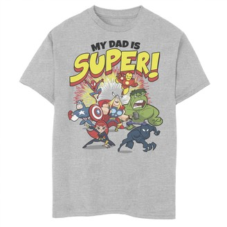 Marvel Boys 8-20 Father's Day My Dad Is Super Avengers Breakthrough Graphic Tee