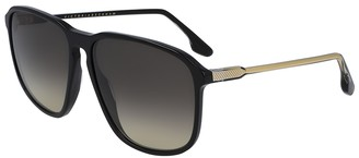 Victoria Beckham Black Oversized Sunglasses