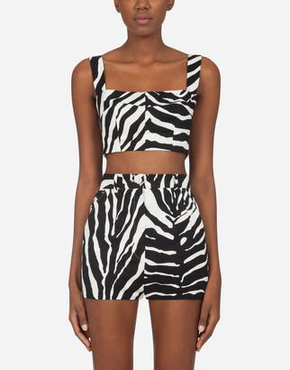 Dolce & Gabbana Drill Top With Zebra Print