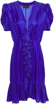 Dundas Ruffled Satin-jacquard Dress