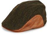 Daniel Cremieux Herringbone Leather Driver Hat