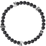 King Baby Studio Men's Onyx & Skull Bead Bracelet
