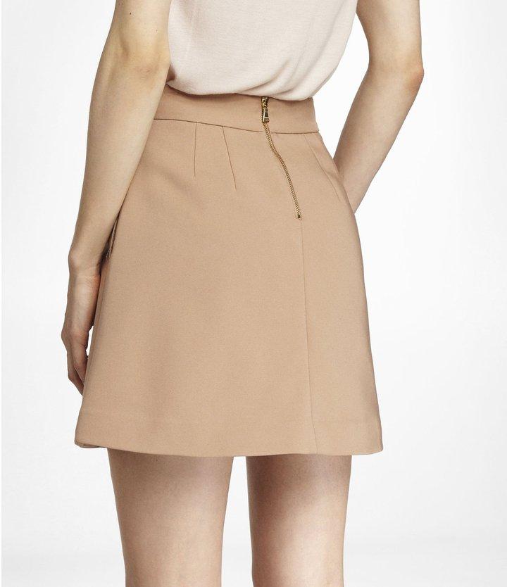 Express High Waist Exposed Zip A Line Skirt