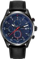 Esprit Tyler Men's Quartz Watch with Blue Dial Chronograph Display and Black Leather Strap ES108391004