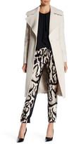 Diane von Furstenberg Notch Lapel Wool Blend Belted Coat