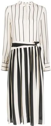 Alysi striped silk shirt dress