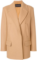 Cédric Charlier cropped coat - women - Polyamide/Acetate/Viscose/Virgin Wool - 42