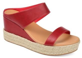 Journee Collection Alissa Espadrille Wedge Sandal