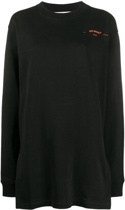 Off-White Coral-Embroidered Oversized Jumper