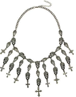 Eye Candy Los Angeles Eye Candy La Skully Fringe Necklace