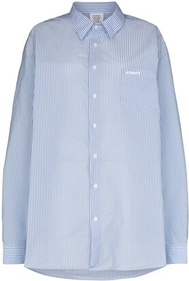 Vetements Oversized Poplin Shirt