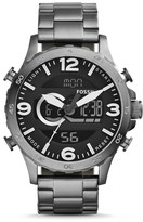 Fossil Nate Analog-Digital Smoke Stainless Steel Watch
